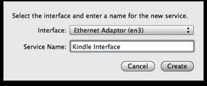Interface: Ethernet Adaptor en3 Service Name: Kindle
